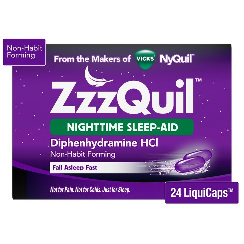 ZzzQuil Nighttime Sleep-Aid LiquiCaps - Diphenhydramine HCl - image 1 of 4
