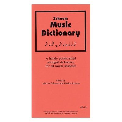 SCHAUM Music Dictionary Educational Piano Series Softcover