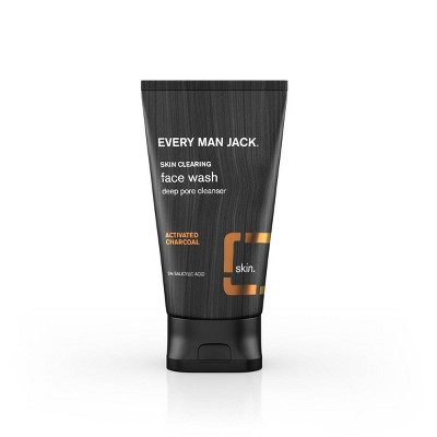 Every Man Jack Skin Clearing Activated Charcoal Face Wash   5.0 Fl Oz by 5.0 Fl Oz