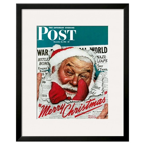 "Art.com ""Santa's in the News"" -Framed Print - image 1 of 2"