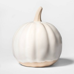 "3.8"" x 3.3"" Decorative Ceramic Pumpkin Cream - Threshold™"
