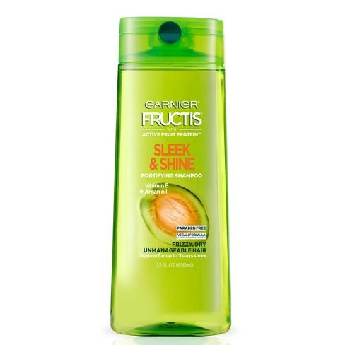 Garnier Fructis Sleek & Shine Shampoo for Frizzy, Dry, Unmanageable Hair - 22 fl oz - image 1 of 4