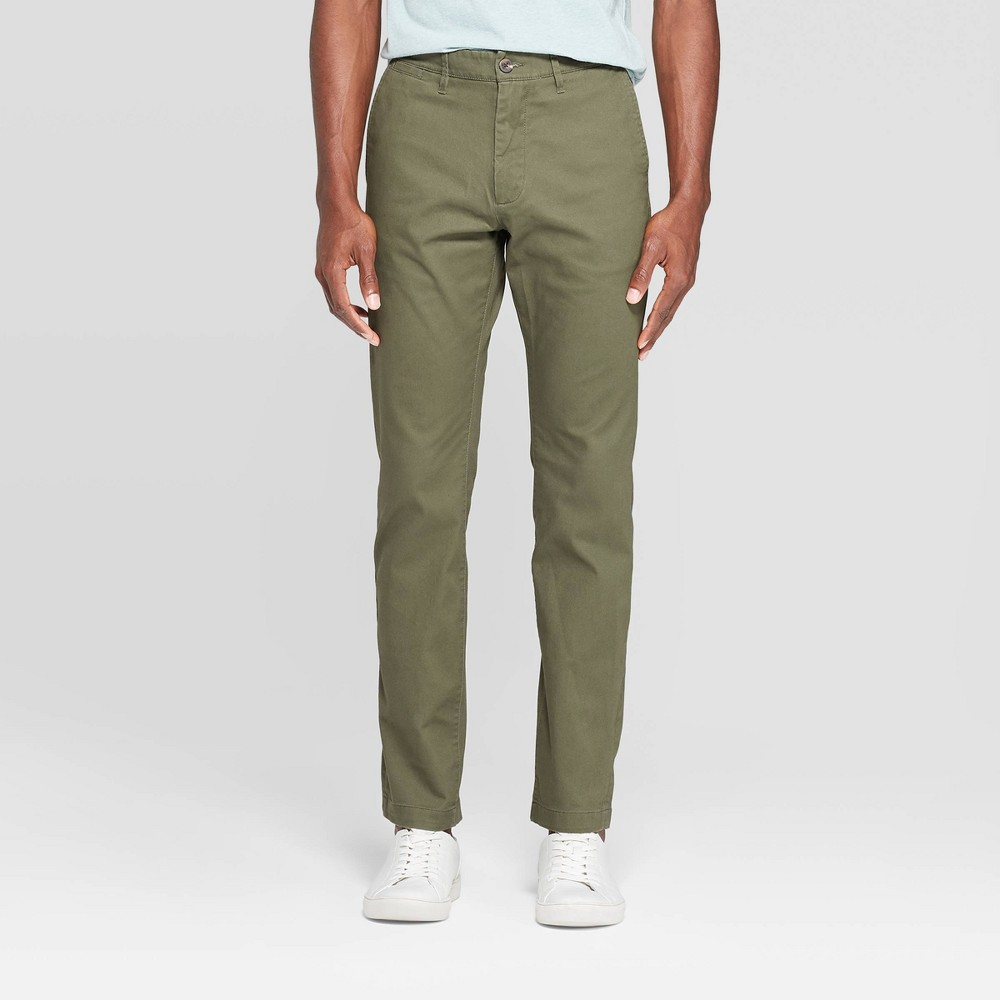 Men 39 S Slim Fit Hennepin Chino Pants Goodfellow 38 Co 8482 Paris Green 32x32