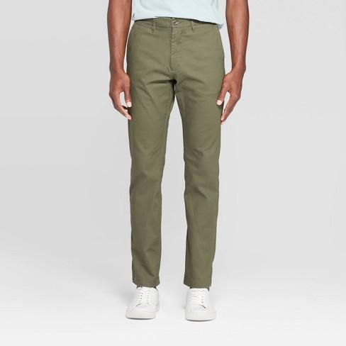 "Men's 32"" Slim Fit Chino Pants - Goodfellow & Co™ Paris Green - image 1 of 3"