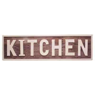 Kitchen Wall Décor Brown (36 x10 )- VIP Home & Garden
