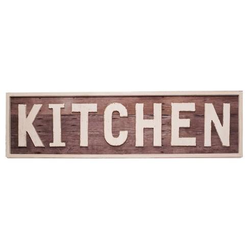 Kitchen Wall Décor Brown (36\