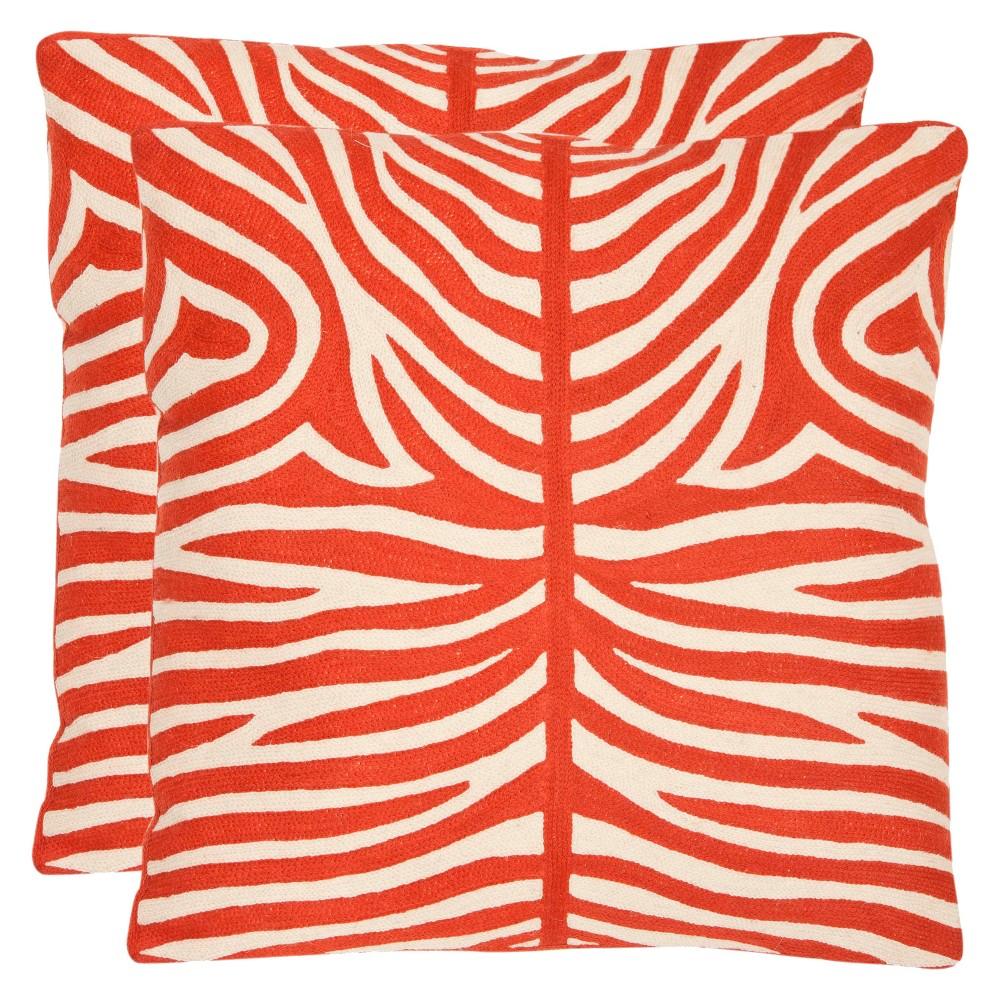 Red set Throw Pillow - Safavieh
