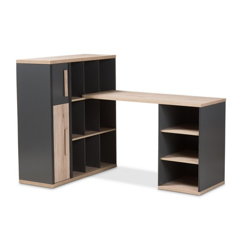 43 7 Pandora Modern And Contemporary Built In Shelving Unit Dark Gray Baxton Studio Target