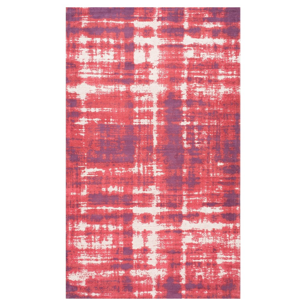 Red Solid Loomed Area Rug - (7'6