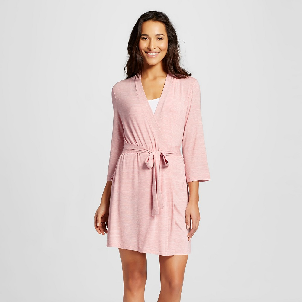 Women's Knit Robe Pink M/L, Charming Pink