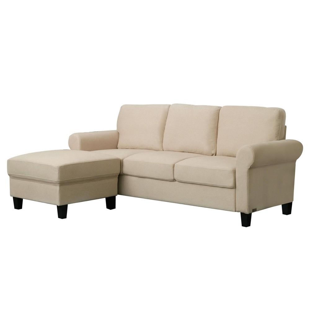 Image of 2pc Francis Fabric Sofa & Ottoman Set Beige - Abbyson Living