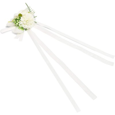 Wedding Wrist Corsages for Bridal Party (6 Pack)