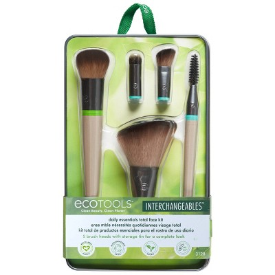 EcoTools Interchangeables Daily Essentials Total Face Makeup Brush Kit - 5pc