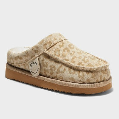 Kids' dluxe by dearfoams Vancouver Genuine Shearling Clog Slippers