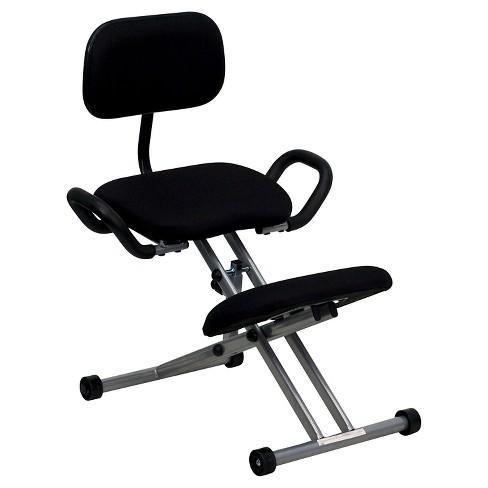 Ergonomic Kneeling Chair Black Flash Furniture