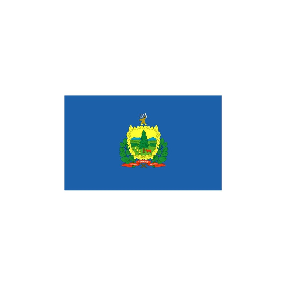 Image of Halloween Vermont State Flag - 3' x 5'