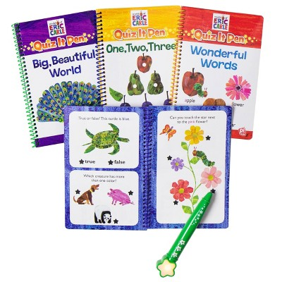 Pi Kids Eric Carle Deluxe Quiz It Pen with 4 Books and Bonus Stickers
