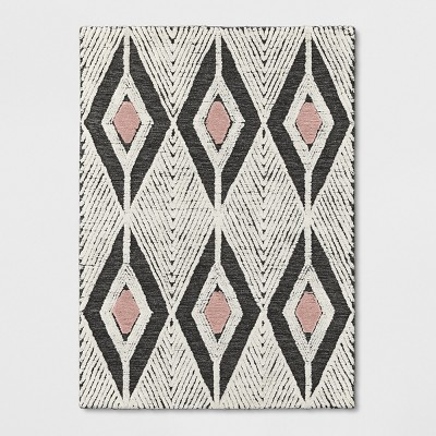 Light Off-White Diamond Tufted Area Rug 5'X7' - Project 62™