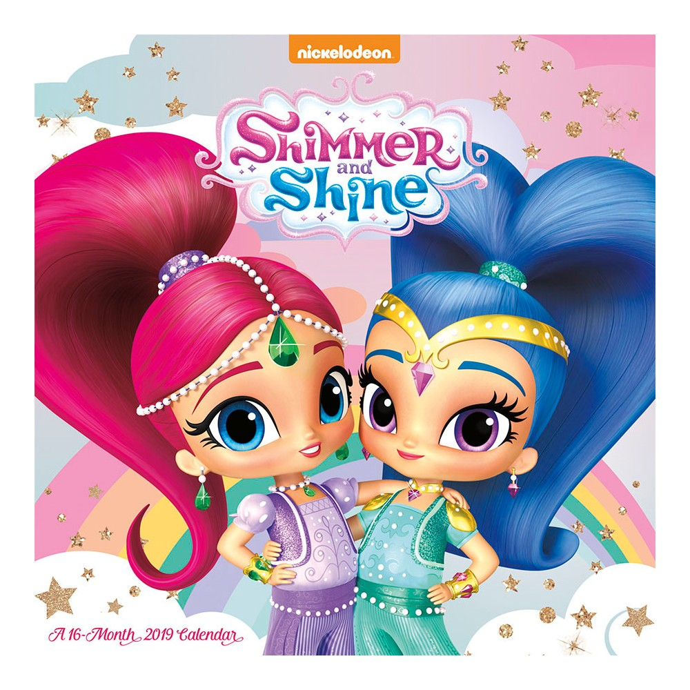 2019 Wall Calendar Shimmer and Shine - Trends International, Multi-Colored