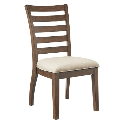 Set of 2 Flynnter Dining Upholstered Side Chair Medium Brown - Signature Design by Ashley - image 1 of 6