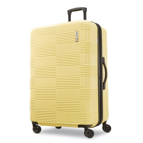"""American Tourister 28"""" Checkered Hardside Spinner Suitcase - Yellow - image 1 of 11"""