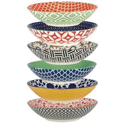 32oz 6pk Porcelain Soho Dinner Bowls - Certified International