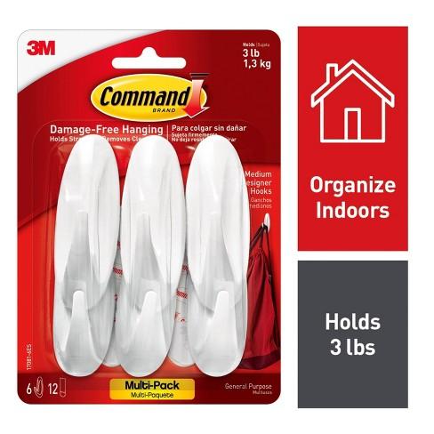 Command Medium Sized Designer Hooks Value Pack White - image 1 of 4