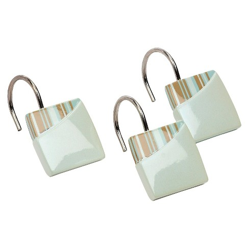 By The Sea Shower Hooks White