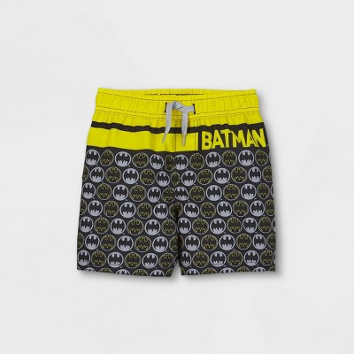 Toddler Boys' Batman Swim Trunks - Black
