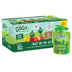 GoGo squeeZ Applesauce, Apple Apple - 3.2oz/20ct