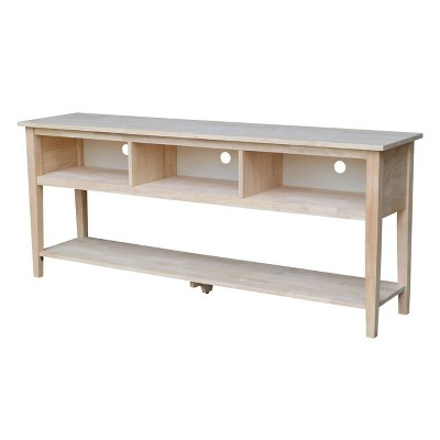 """Concepts TV Stand Unfinished 72"""" - International Concepts"""