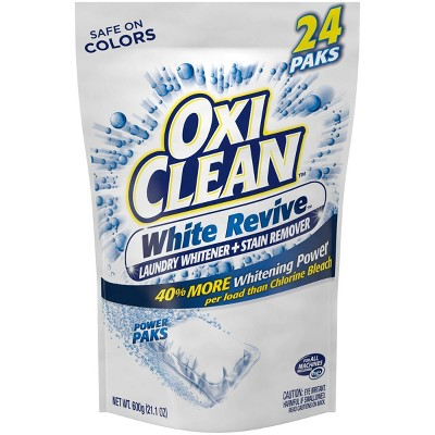 OxiClean White Revive Laundry Whitener + Stain Remover Power Paks - 24ct