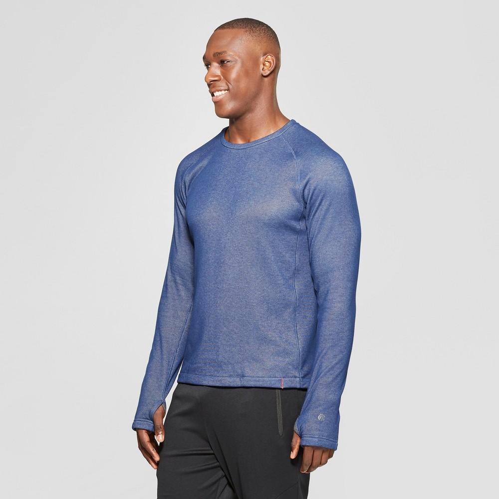 Men's Sweater Knit Crew Layer - C9 Champion Midnight Vista Blue Heather XL