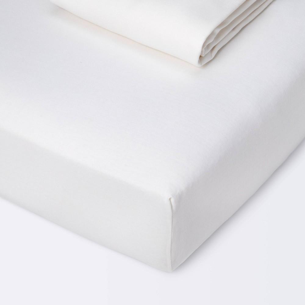Fitted Crib Jersey Sheet Cloud Island 8482 White 2pk