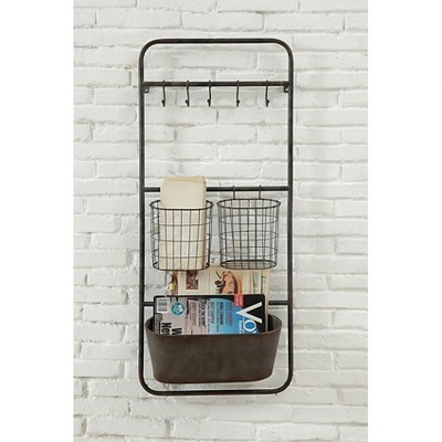 Metal Shelves with Hooks and Baskets - 3R Studios