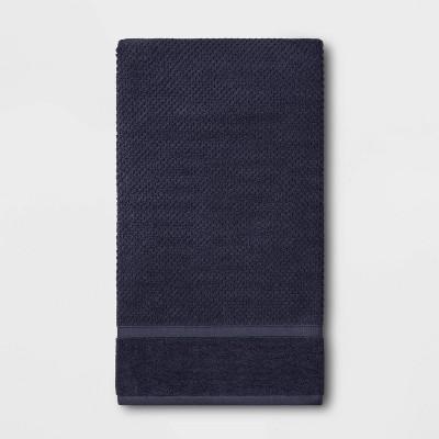 Performance Texture Bath Sheet Navy Blue - Threshold™