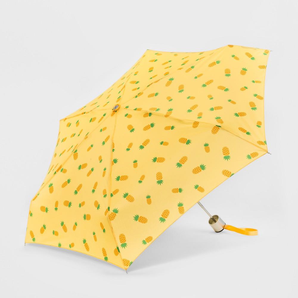 Image of Cirra by ShedRain Women's Fruit Medium Compact Umbrella - Yellow