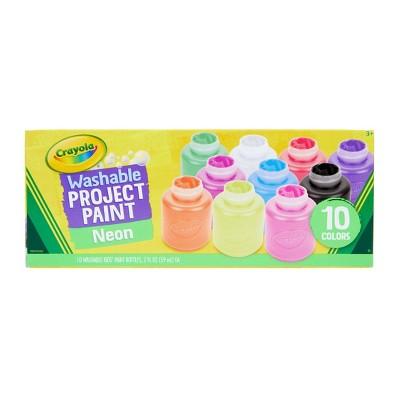 Crayola 10ct 2oz Washable Kids Paint Neon Colors