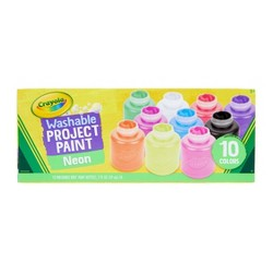 Crayola 2oz 10ct Kids' Washable Paint Set - Neon Colors