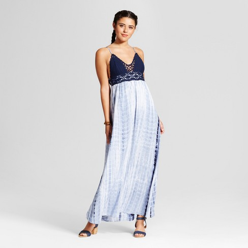 Womens Crochet Tie Dye Maxi Dress Xhilaration Juniors Target