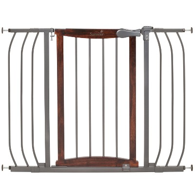 Summer Infant® Walk Thru Anywhere Decorative Baby Gate (Wood and Metal)