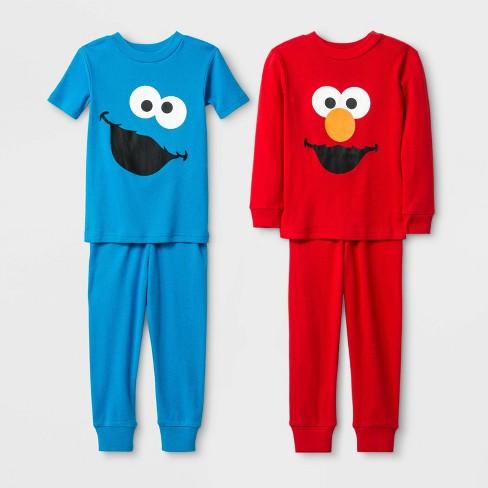 Sesame Street Toddler Boys Elmo 2-Piece Pajama Set Size  3T 4T $36