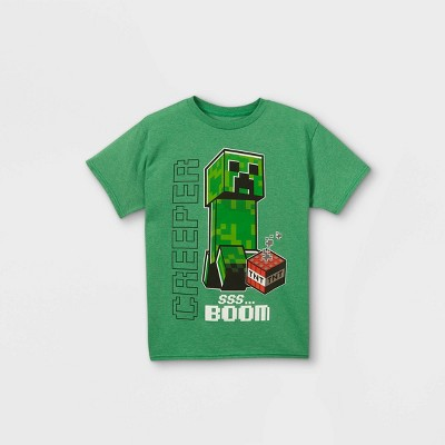 Boys' Minecraft Short Sleeve Graphic T-Shirt - Green