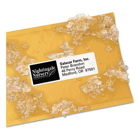 Avery 1-1/3 x 4 Weatherproof Laser Shipping Labels - White (700 Per Pack) - image 1 of 2
