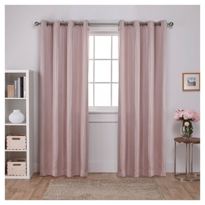 "Carling Woven Blackout Curtain Panels Light Pink (52 X 84"")- Exclusive Home"