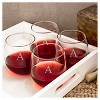 Cathy's Concepts 16.75 oz. Personalized Stemless Red Wine Glasses (Set of 4) A-Z - image 3 of 4