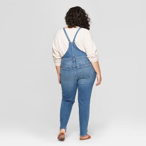 5feb1be9066d Women s Plus Size Overalls - Universal Thread™ Medium Wash   Target
