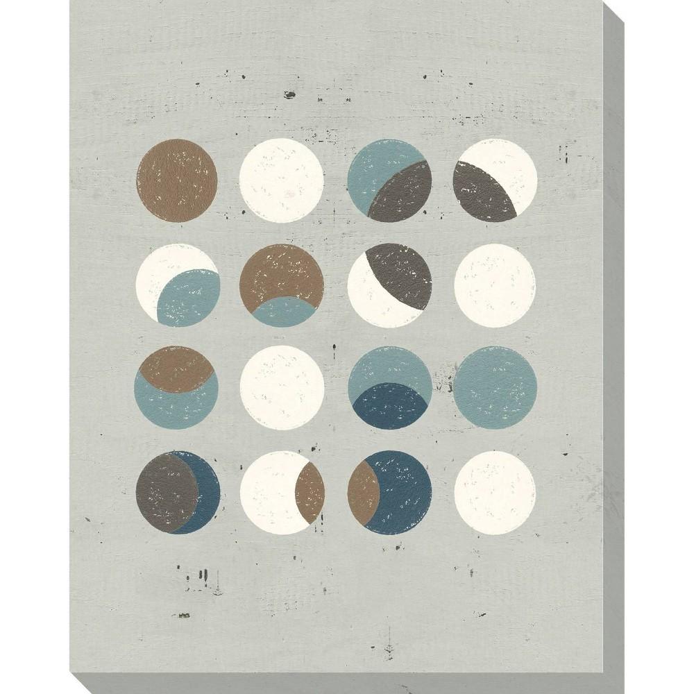 Image of Circle Play Light 3 Unframed Wall Canvas Art - (24X30)