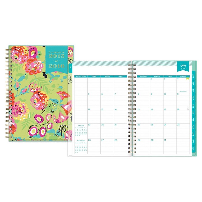 "Day Designer Planner 5"" x 8"" - Multi-colored - image 1 of 9"