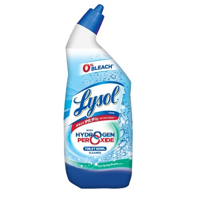 Toilet Cleaner: Lysol with Hydrogen Peroxide